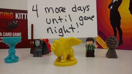 "Sign reading ""4 more days until game night!"""
