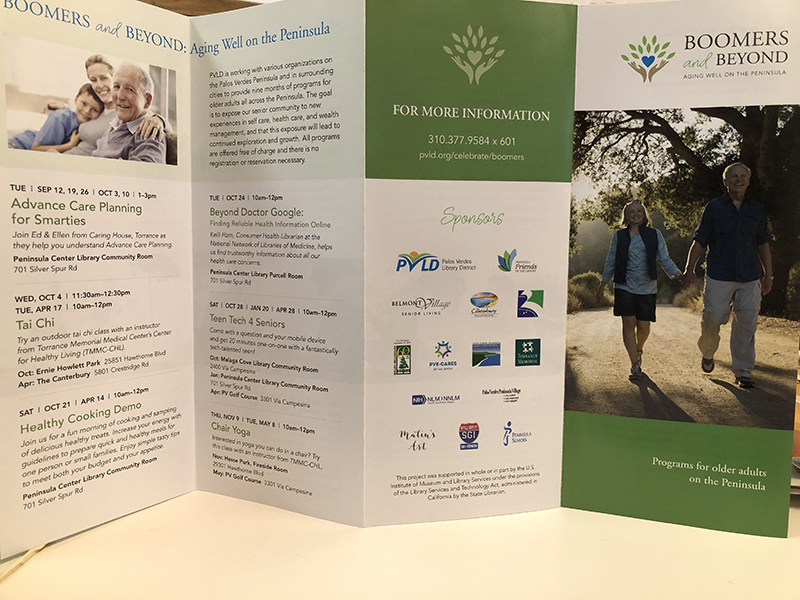 Brochure for program Boomers and Beyond