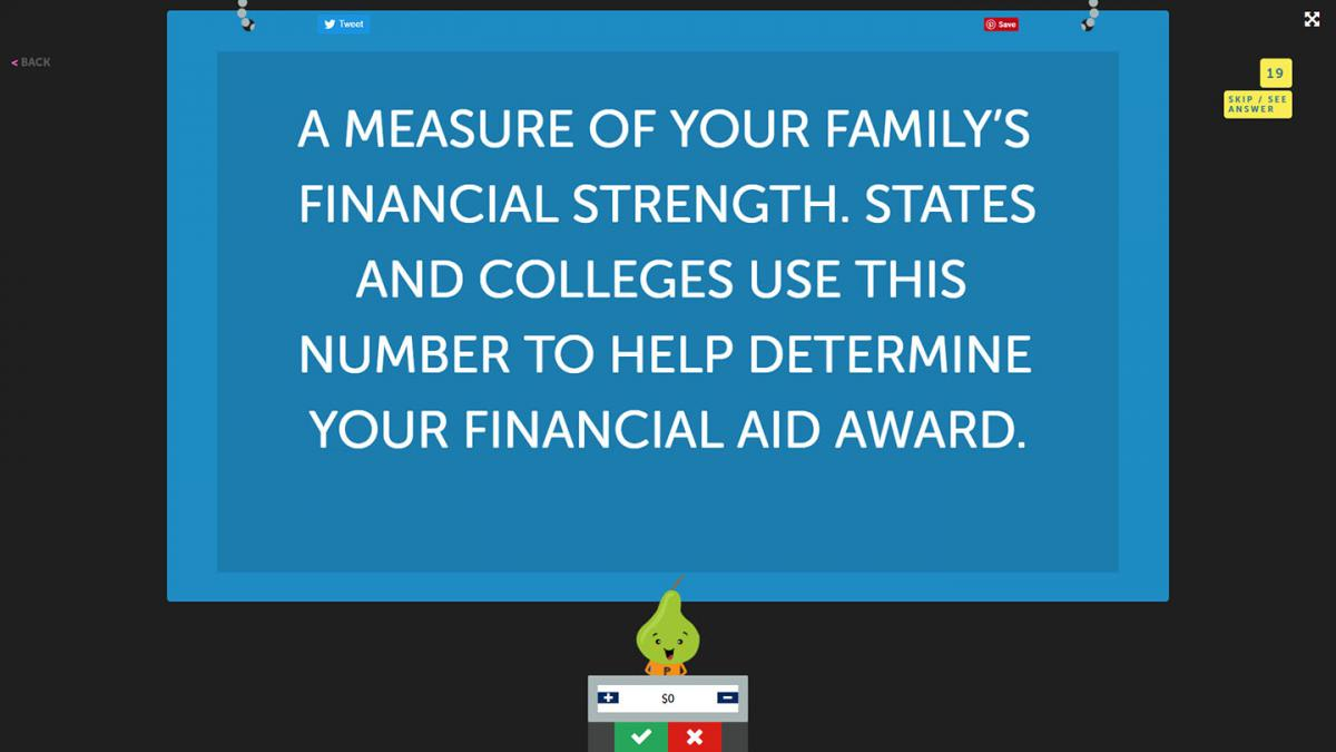 Use a Jeopardy-style game to make financial literacy fun.