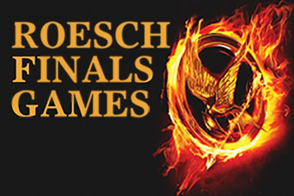 Hunger Games finals week logo by Nichole Rustad.