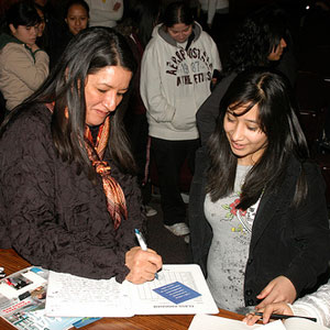 Sandra Cisneros did a special event with teens only; we worked with various Chicago Public Schools to come in for a field trip to the event.