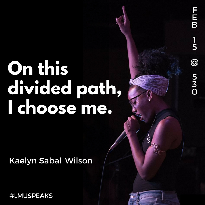 On this divided path, I choose me--poster for LMU speaks