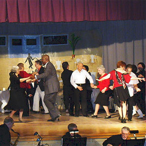 Older adults swing dance at Yonkers Public Library.