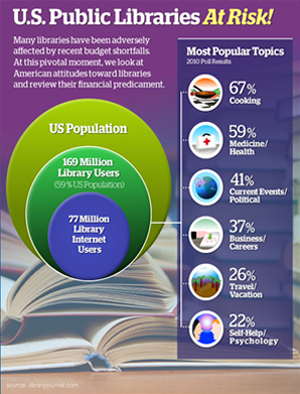 U.S Public Libraries At Risk! graphic