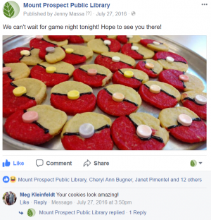 Picture of cookies posted in a Facebook Event