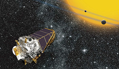 Artist rendering of Kepler telescope (public domain)