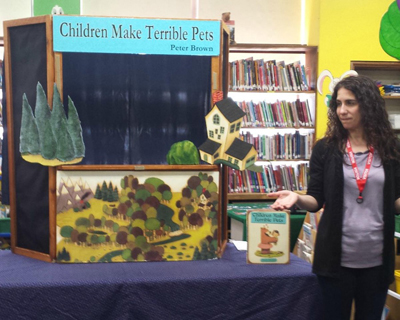 Puppet show led by librarian