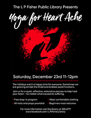 Flier for Yoga for Heart Ache program