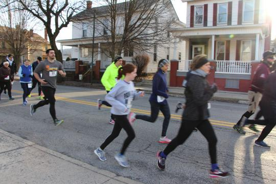 Run for Reading participants in Bellwood, Pennsylvania