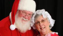 Santa Charles Wolber and Mrs. Claus