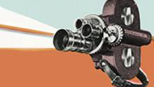 Old film projector drawing