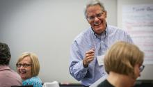 A retiree leads a program.