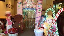 Life-size Candy Land pieces