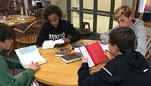 Kids participating in book speed dating