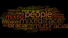 Ae Wordle that describes what it means to be multiracial