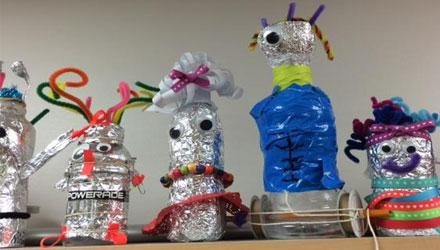 Student-designed robots