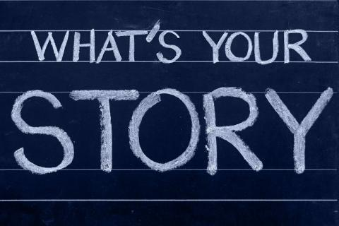 "Chalkboard: ""What's Your Story?"""