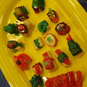 Candy sushi plate from Ultimate Teen Chef (Evansville Vanderburgh Public Library)