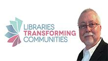 "Ken Stewart integrated community voices in his high school library using the ""turning outward"" approach."