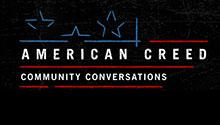 Logo for American Creed Community Conversations project