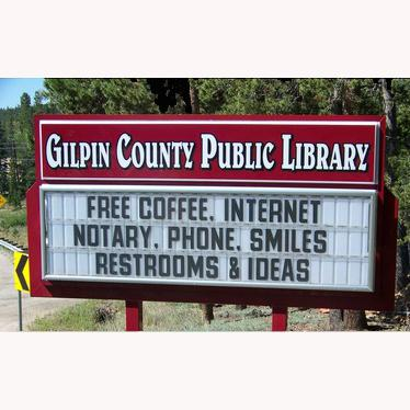 Gilpin County Public Library marquee