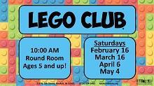 Lego Club at the YMCA flier