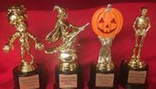 Halloween themed trophies