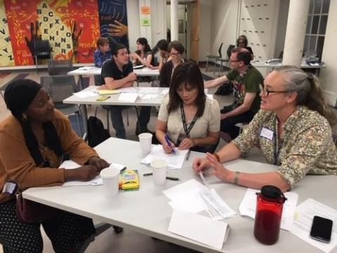 Nina Coffin and her Cohort 6 colleagues discuss community engagement