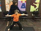 Blogger Jenn Carson shares tips on how to teach yoga in the library.