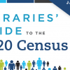 """""""Libraries' Guide to the 2020 Census"""" with clip art people"""