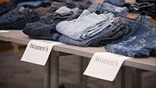 Piles of jeans