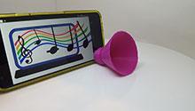 3D-printed enhancer speaker for cell phone speakers