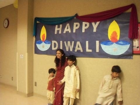 Diwali celebration participants
