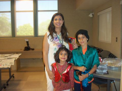 Nowruz Celebration participants - woman with two children