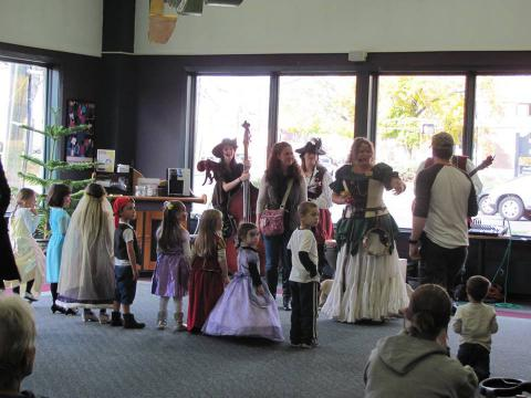 Children show off their costumes at the Renaissance Faire.