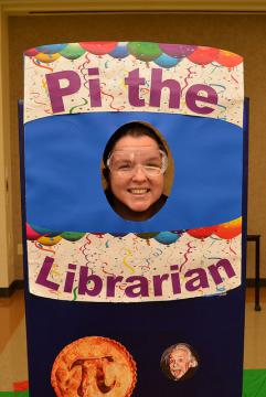 """Pi a Librarian"" booth"