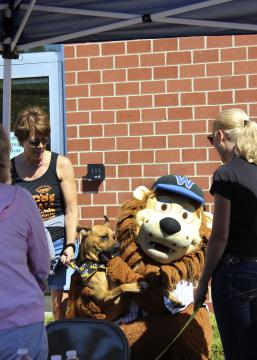 Dog with Visiting Mascot