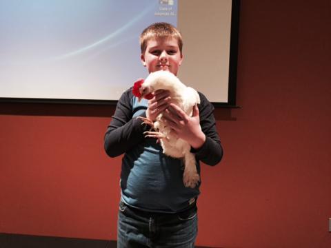 Speaker's son chicken chicken