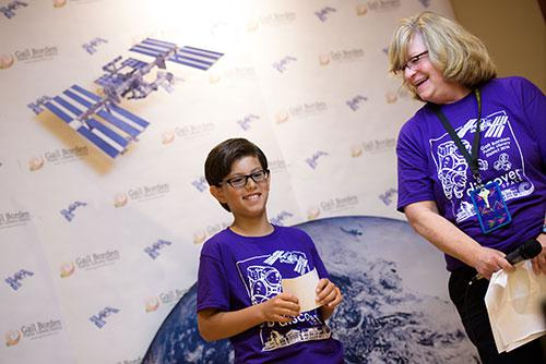 Children participating in NASA downlink
