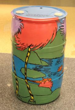 Barrel Inspired by The Lorax: Sean Davis, READ Center Supervisor, 2015