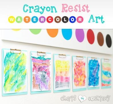 Crayon Resist Watercolor Art