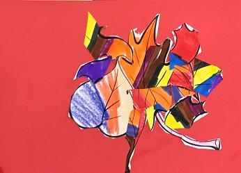Cubist Leaf art project