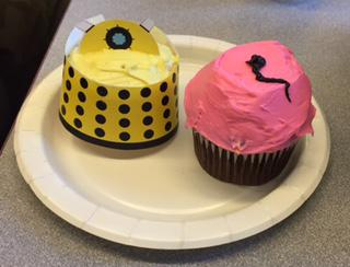 """Dr. Who"" cupcakes"