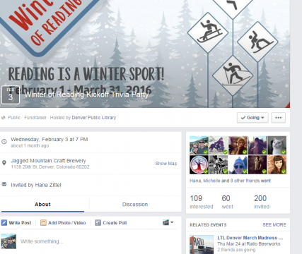 Winter of Reading Facebook page