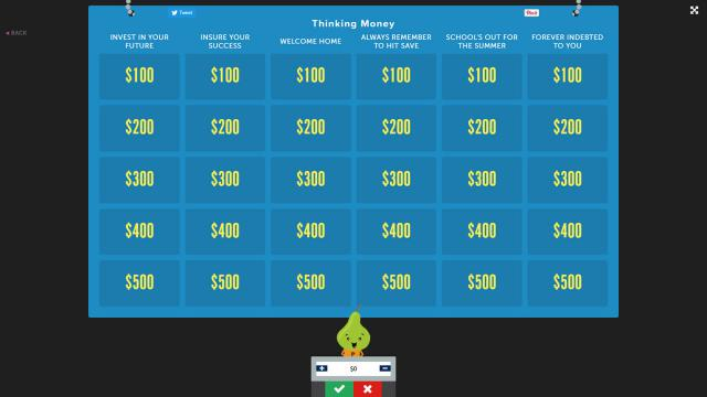 Factile offers a Jeopardy board for anyone to create their own game.