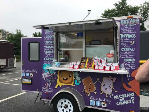 One of the foodtrucks
