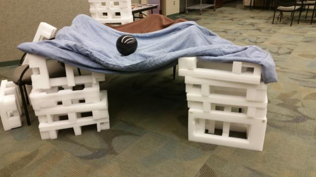 Fort created by participants