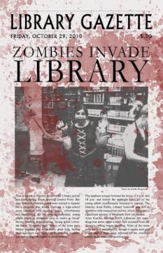 Mock Gazette Zombie Invasion