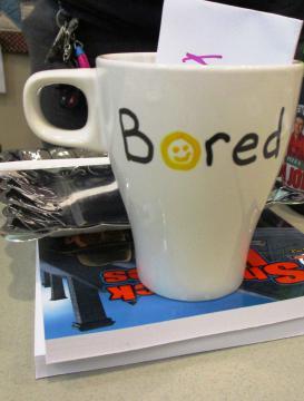 Mug made by a patron
