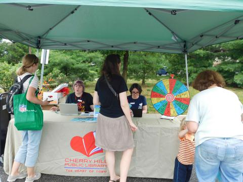 The library's tent at the event